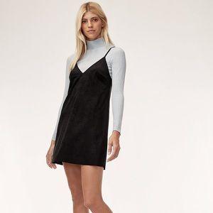 Wilfred Free Vivienne Faux Suede Black Mini Dress